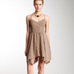 NWOT Cross-back V-Neck Taupe Mini Dress