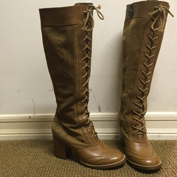 Lucky Brand Vintage Lace Up Tall Boots