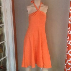 J.Crew orange cotton summer dress