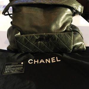 Chanel Lambskin Shoulder Bag - Dark Gray