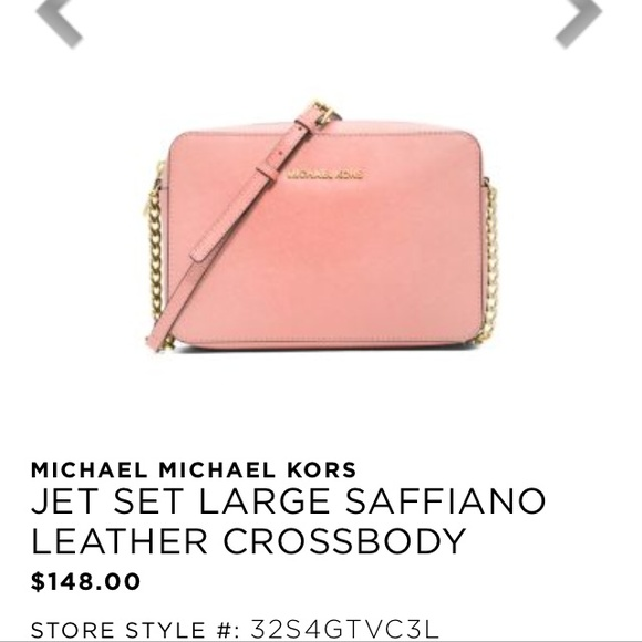 f25c84ef75e1 MICHAEL Michael Kors Bags   Michael Kors Large Crossbody Pale Pink ...
