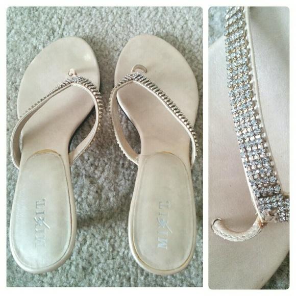 e1a0c23214e04 JCPenney Mixit Shoes -  FREE! Mixit  Laverne  Gold Sandals