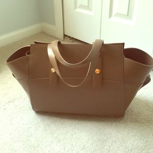 Alberta Dicanio Leather brown olive bag