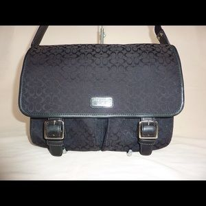 d3d2890d3fc7 COACH VOYAGER LAPTOP DIAPER MESSENGER BAG BLACK ...