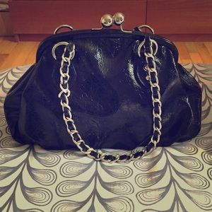 Nine West patent leather black handbag!