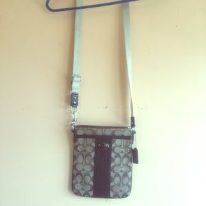 Brown coach cross body bag