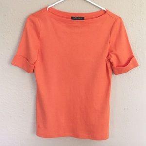 Ralph Lauren Tops - Ralph Lauren Orange Boatneck Top
