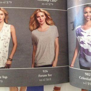Cabi Tops Forum Tee Size Medium Grey Slub Fabric Poshmark