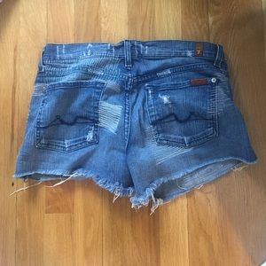7 for all mankind denim shorts SZ 27