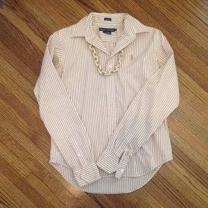 Ralph Lauren Tops - Striped Polo Button Down