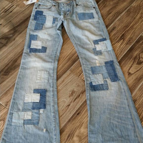 Ralph Lauren - RL Denim & Supply patchwork flare jeans 26/27 from ...