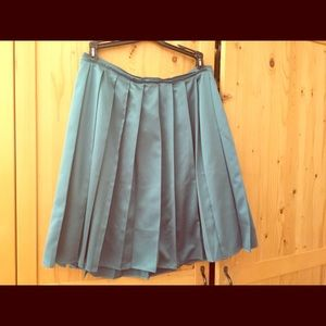 Satin knee length skirt