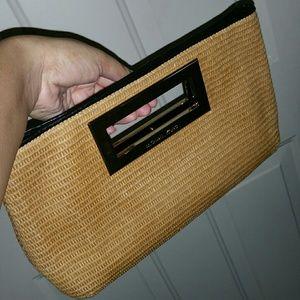 Michael Kors Bags - Authentic Michael Kors Straw Clutch