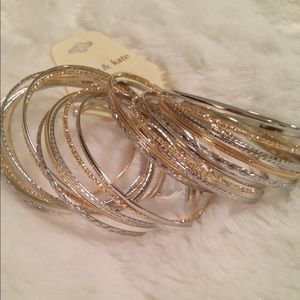 Sophia & Kate Jewelry - 🆑Silver and Gold Bangle Set of 25