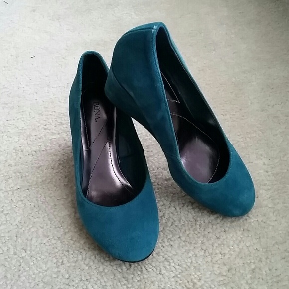 56 merona shoes suede wedge heels from k s closet