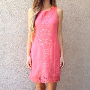 | new | pink shift dress