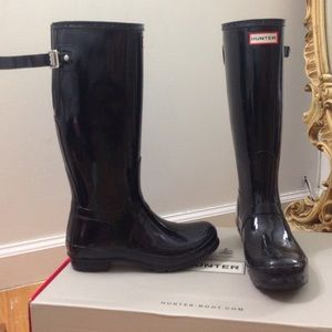 Hunter Boots / Adjustable Gloss Rain Boots