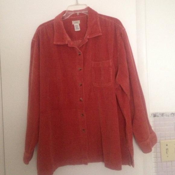 49be3a12854 L.L. Bean Tops - Women s L.L. Bean plus size corduroy big shirt