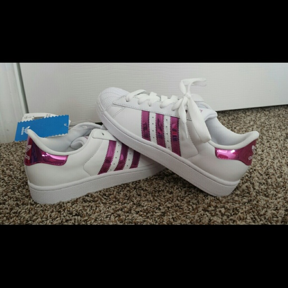 adidas superstar sneakers pink