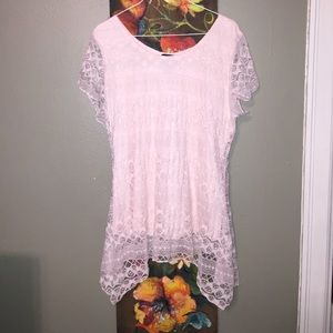 Tops - Beautiful pink lace top