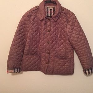 Burberry Brit beige quilted jacket