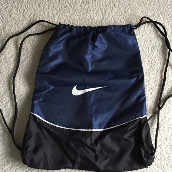 68% off Nike Handbags - Navy Nike drawstring bag from Morgan's ...