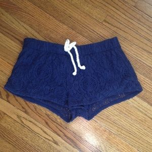 American Eagle Outfitters Pants - Navy Lace Shorts