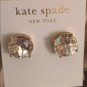 Brand New Kate Spade Clear Gum Drop Earrings