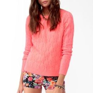 off Forever 21 Sweaters NWOT Neon Cocoon Collared #1: s 553d879e5a49d03f2900eddf