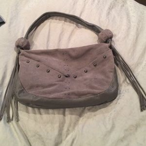 Genuine leather/suede bag