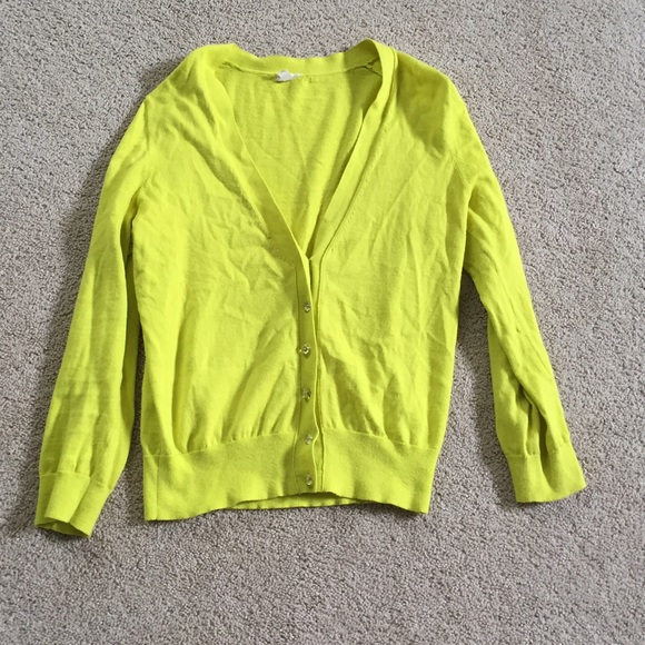 74% off J. Crew Sweaters - J. Crew neon yellow cardigan from ...