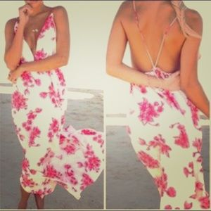 Sabo Skirt Pink Rose Maxi Dress