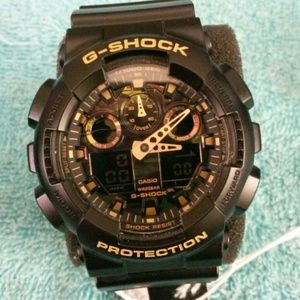 G shock black and camoNWT for sale