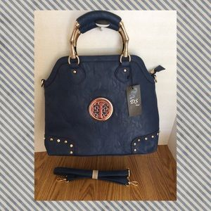 An exquisite NAVY colored handbag by MFCollection