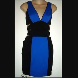 Blue Bebe cut out dress worn once