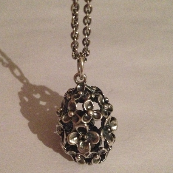 2485af19da6089 Pandora Jewelry | Authentic Flower Bloom Pendant And Chain | Poshmark