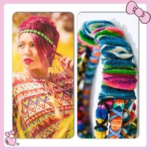 Zara Accessories - RESTOCKED Zara Multicolor Aztec  4 Braids Headband