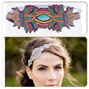 Zara Accessories - Zara Embroidered with Gemstones Head Band!
