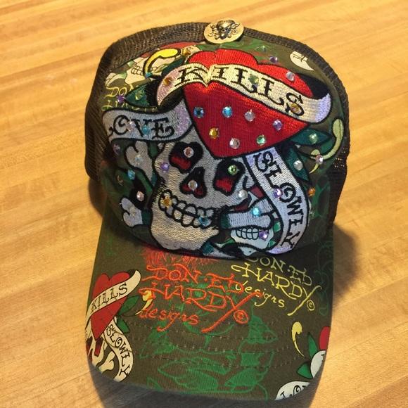 Ed Hardy Accessories - Ed Hardy Trucker Hat d03fef2404b