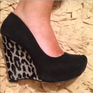 Shoes - Leopard Wedges