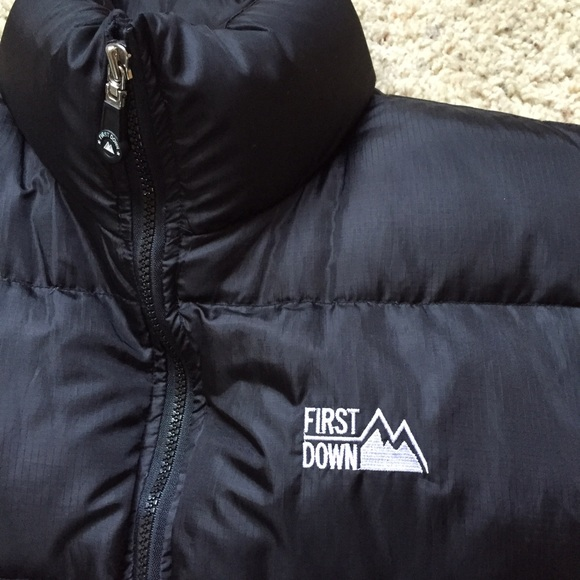 64% off First Down Other - First Down Black Bubble Vest Jacket