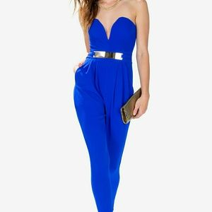 Pants - Blue Harem Pant Romper/ Jumpsuit /Playsuit