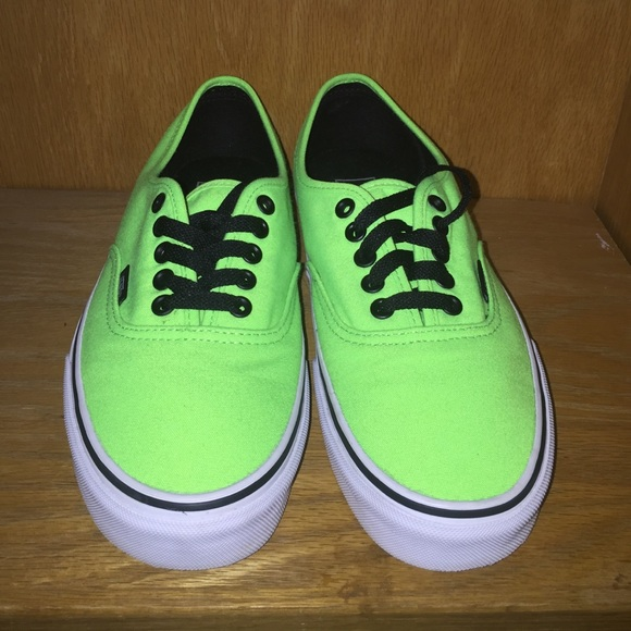 all lime green vans