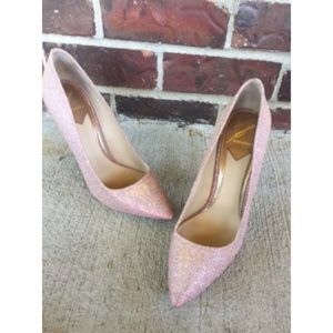 B BRIAN ATWOOD Shimmery Pink Desire Heels