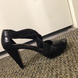 Rockport black heels with Adidas cushioning