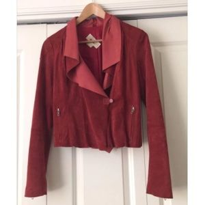 MICHAEL KORS Red Suede Jacket