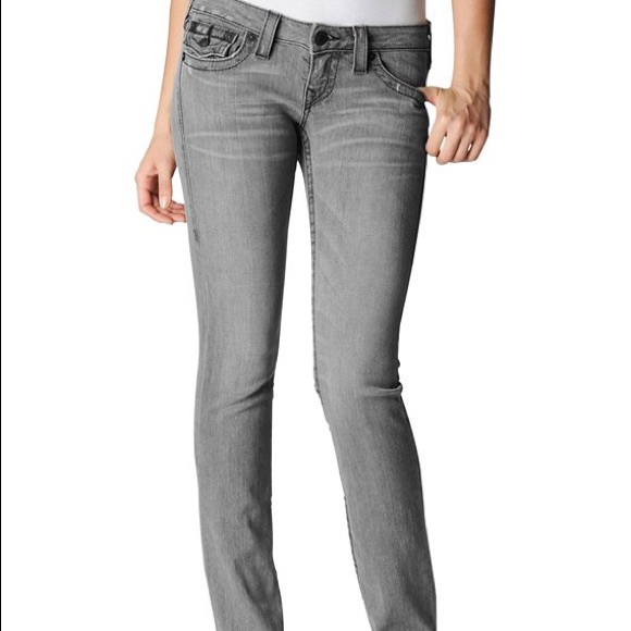 46% off True Religion Denim - True Religion Size 8 Gray Grey Denim ...