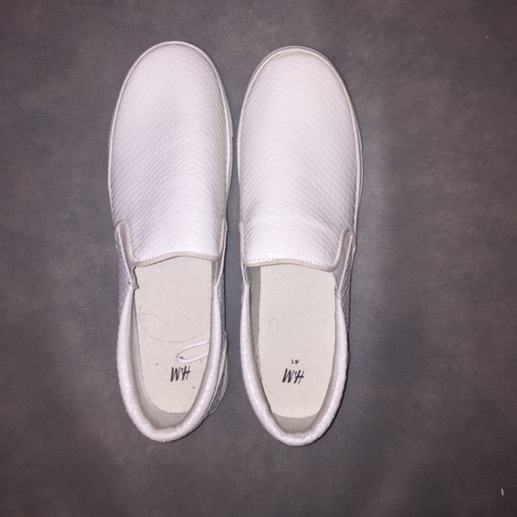 40 h m shoes white h m slip ons from martha s
