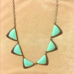 Mint Triangle Statement Necklace