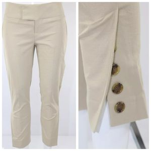 "Alvin Valley Beige Crop Cigarette Pants 31"" 2"
